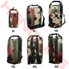 30L Sport Camouflage Waterproof Dry Bag Backpack Pouch Floating Boating Camping