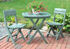 Bistro Set 3 Piece Table 2 Chairs Outdoor Folding Dining Garden Patio Furniture