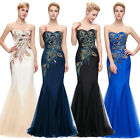 PEACOCK Mermaid Long Bridesmaid Formal Dress Ball Gown Evening Party Prom Dress^
