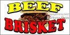 (CHOOSE YOUR SIZE) Beef Brisket DECAL Concession Food Truck Vinyl Sign Sticker