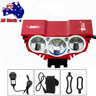 SolarStorm 10000LM 3X XM-T6 LED Rechargeable Bicycle Bike Light Headlamp Battery