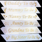 BLUE BABY SHOWER SASHES, Mummy to be, Nanny, Aunty, Big Sister & Grandma To Be