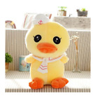 Plush toy stuffed doll super cute cartoon navy tie yellow duck present gift 1pc