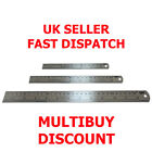 Steel Rule Ruler 15cm 20cm 30cm - Metric Imperial Dual Readings - UK SELLER