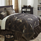 3-pc FARMHOUSE STAR Primitive Country Quilt Set * QUEEN CAL KING * PRICE MATCH *