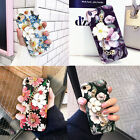 New For Apple iPhone Lovely Floral Design Metal Bracelet Luxury Phone Case Cover