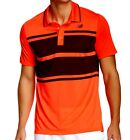 New Balance Men's Tournament Yarn Dyed Polo Golf Shirt Red Flame Size XL 2X New