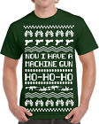 533 Machine Gun Ho Ho Ho Ugly Christmas Ugly Sweater mens t-shirt party die