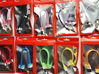"""FLAT BRAIDED MINI 8"""" (20cm) fabric charge cables FOR iphone 4 4s ipod data sync"""