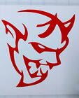 Large Dodge Demon Logo Decal/Sticker Multiple Colors Available  for sale