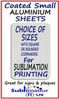 Small ALUMINIUM SHEETS use for SUBLIMATION PRINT coated blank metal sheet blanks