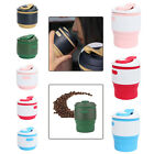 HOT Collapsible Silicone Travel Coffee Tea Mug Camping Travel Cup BPA Free