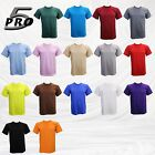PRO 5  T SHIRT BASIC TEE  SUPER HEAVY DUTY100% COTTON  SHORT SLEEVE SIZE S~5XL image