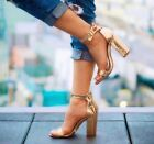 Fahrenheit Constance Rose Gold chunky Heel Sandals