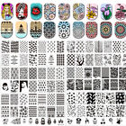 Rectangle Nail Art Stamping Stamp Image Template Plates BPL001-L098 BORN PRETTY