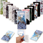 Blue Gold Marble Pattern Soft TPU Rubber Gel Phone Case Cover For LG V20 X Power