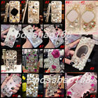 3D Luxury Bling Jewelled Crystal Diamond Rhinestone Hard Clear Back Case Cover 2