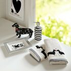 Luxury 5pc Ceramic Black Grey & Off White Bathroom Set - ...