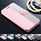 Luxury Bling Crystal Leather Flip Wallet Case Cover For Samsung S8 Plus S7 Edge