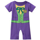 Baby Boy Joker Costume Romper Infant Cute Jumpsuit Party Playsuit Newborn Gift