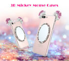 3D Bling Cute Mirror Diamond Case for iPhone 7 Plus 6s Mickey Ear Minnie Cover