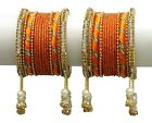 Traditional Bollywood Beautiful Goldplated Indian Women Plain Bangles Jewellery