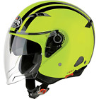 CASCO AIROH JET CITY ONE FLASH DOPPIA VISIERA YELLOW GLOSS GIALLO