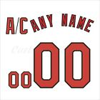St Louis Cardinals-themed 2015 White hockey Jersey Customized Number Kit un-sewn