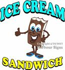 Ice Cream Sandwich DECAL (CHOOSE YOUR SIZE) Candy Food Truck Sign Concession