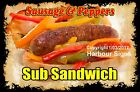 DECAL (Choose Your Size) Sausage & Peppers Sub Sandwich Food Sticker Concession