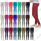 New Ladies Plain Stretchy Viscose Full Ankle Length Skinny Leggings Trouser Pant