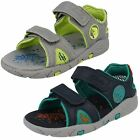 Boys Clarks Tyrano Walk Inf Leather Casual Open Toe Sandals