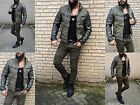 Rebell Style Biker Street/Club Party Taillierte LederJacke Optik Biker Rocker