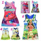 Newest ToddlerGirlTrolls, Moana, Bell Summer Sleeveless Dress Casual Party Dress image