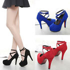 2017 Fashion Women Pumps Buckle Stiletto Platform Strappy High Heels Party Shoes
