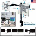 Dual LCD Monitor Desk Mount Stand Heavy Duty Stacked Vertical 2 Screens upto 30""
