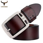 Men's Genuine Leather Cowhide Waist Belt Alloy Pin Buckle Waistband Strap Hot