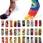 New Style Woman Unisex 3D Printed Low Cut Ankle Socks Multiple Colors Harajuku