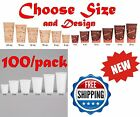 4 8 10 12 16 20 Paper Hot Tea Coffee Drink Soup Disposable Cup w/ LIDS- 100/Pack