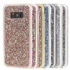 2 in 1 Bling Diamond PC TPU Case For Samsung S8 Plus Shockproof Protective Cover