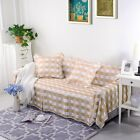 Checked Thick Cotton Blend Slipcover Sofa Cover oAUl for 1 2 3 4 seater mh