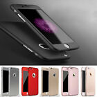 360° Full Hybrid Acrylic Hard Case Cover+Tempered Glass For iPhone 5/6/6S/7/PLUS