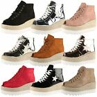 Jezebel Womens Platforms Wedges Ladies Lace Up Peep Toe Ankle Boots Shoes Size
