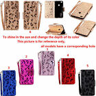 ZD For Huawei Series Phone Laser Butterfly Strap Wallet Card Leather Case Cover