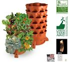 Garden Tower 2 - Vertical Composting Indoor Outdoor Terra Cotta Mobile Garden