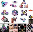 Fidget Finger Spinner Hand Focus Spin Aluminum EDC Bearing Stress Toy Rainbow UK