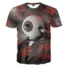 New Summer 3D Eye Print Funny T-Shirt For Men Casual Graphic Tee Tops M to 2XL