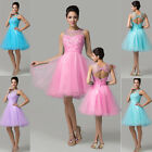Princess Short Tulle Cocktail Party Formal Evening Prom Dress Wedding Gown DRESS