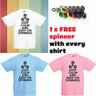 Keep Calm and Keep on Spinning Kids Boys/GirlsT-Shirts+ FREE Fidget Spinner