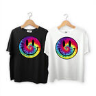 Acid Dripping Smiley Face Tie Dye T shirt Rave House Music Summer Dubstep